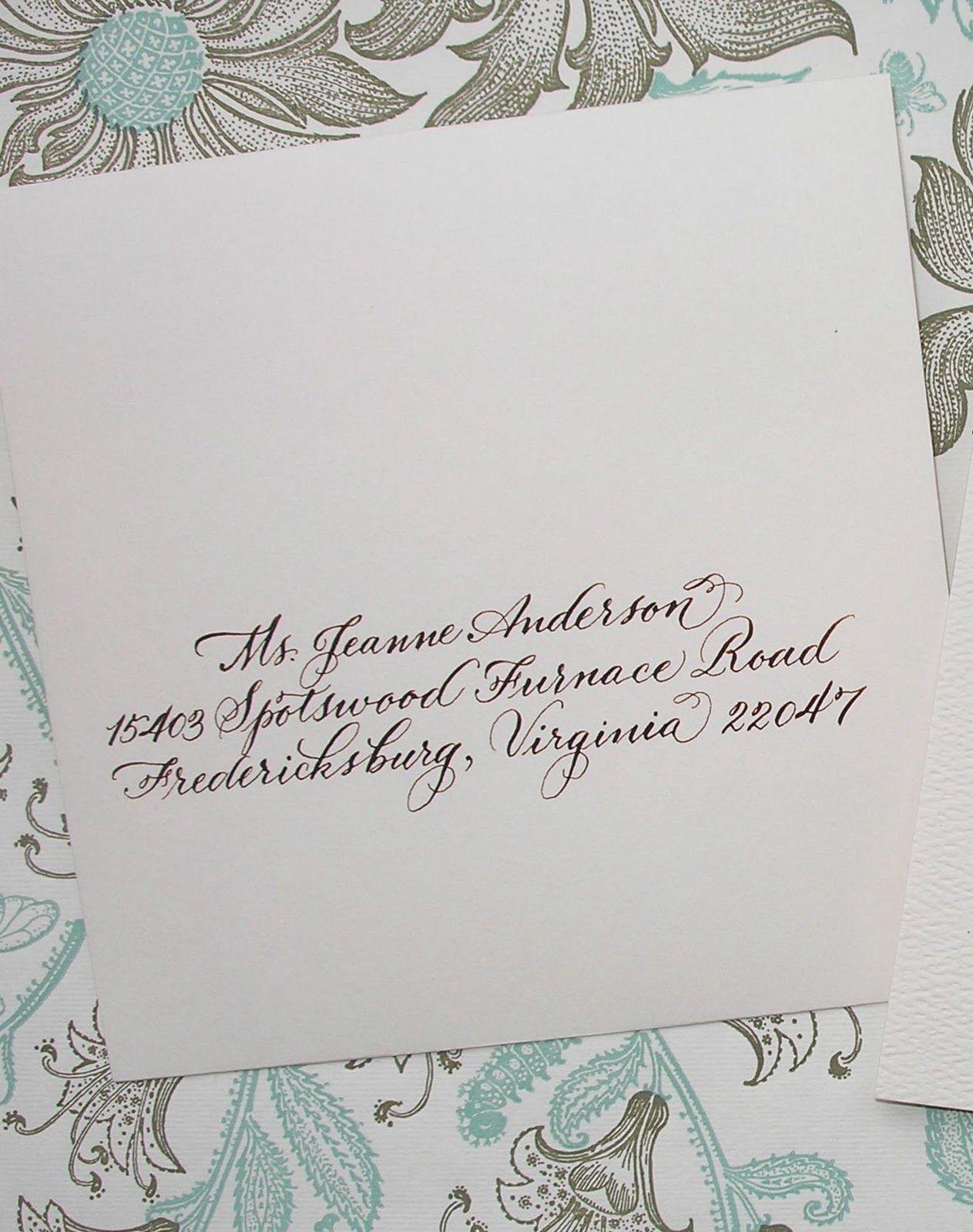 jane farr Wedding calligraphy, Calligraphy envelope