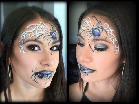 Spider Queen Makeup and Face Painting - YouTube Fp boys - face painting halloween makeup ideas