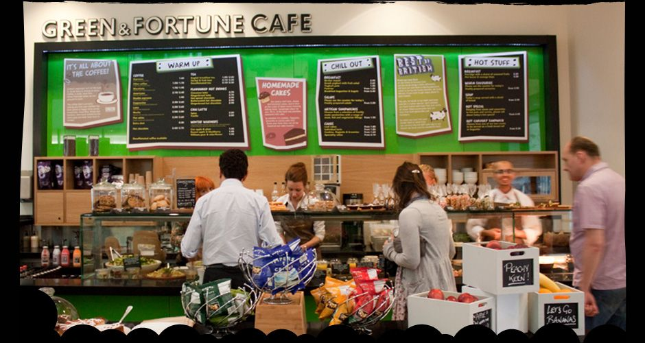 Green and Fortune Café: Kings Place  HONEST BRITISH FOOD