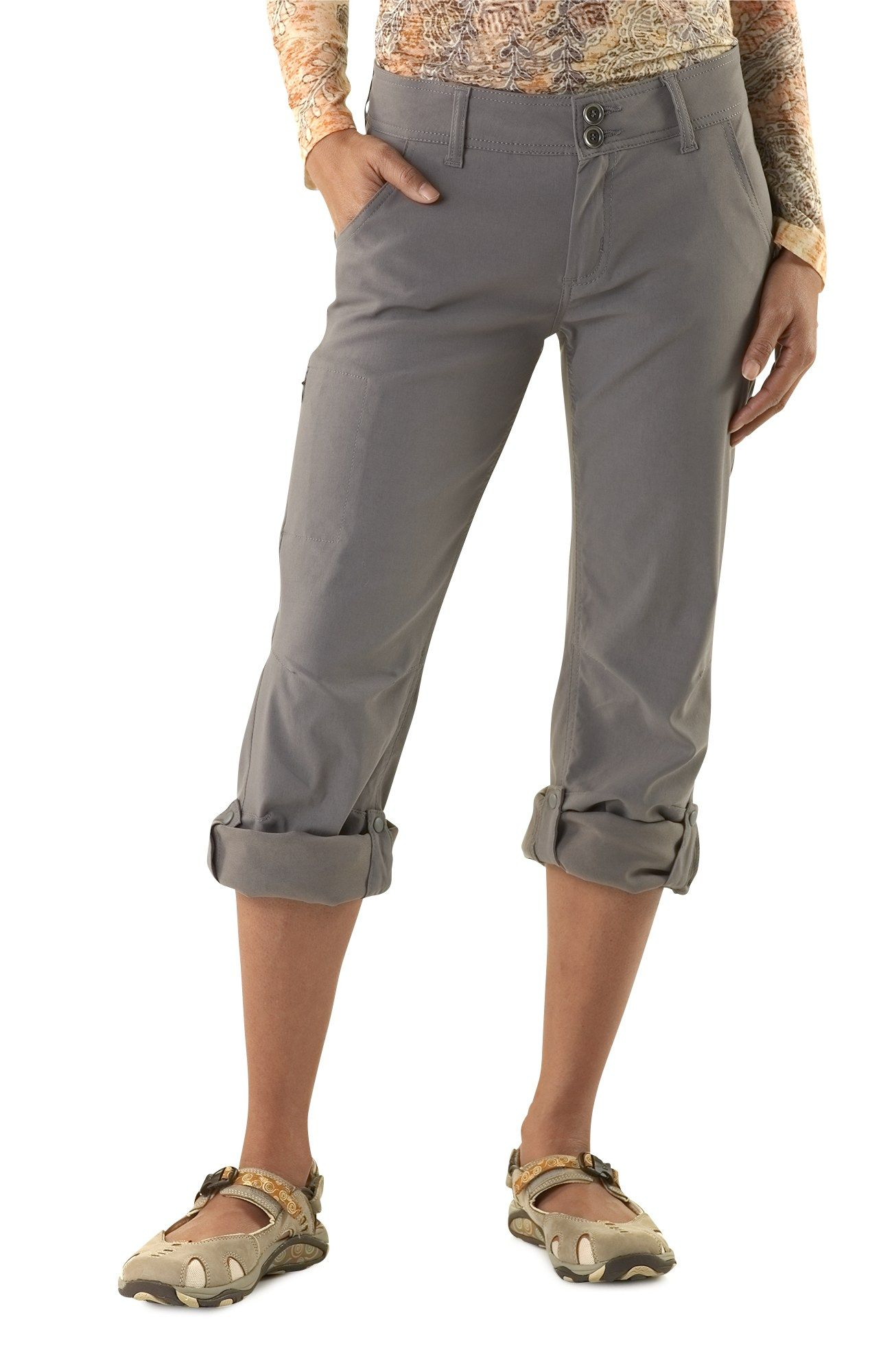 71dba40512b032 Hiking pants similar to this that roll up into capris - quick drying -  prAna Halle Pants - Women's - Free Shipping at REI.com