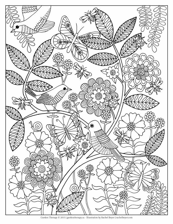Life's a Garden Adult Coloring Page | Garden coloring ...