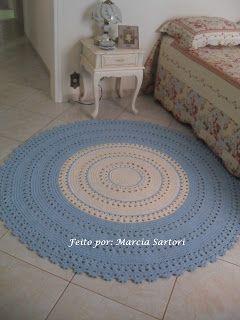 marcia sartori crochetando: Tapete Azul