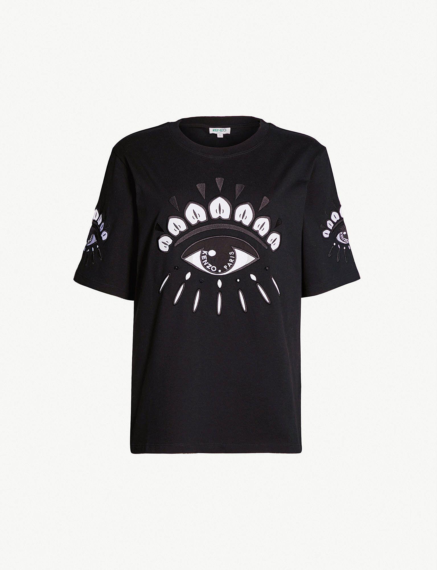 Shirt Kenzo Cotton In Slogan T Jersey 2019Graphic Eye HIDW9YE2