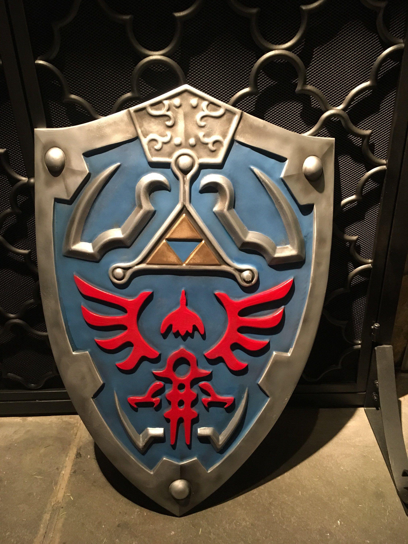 Hylian Shield Inspired Legend Of Zelda Breath Of The Wild Etsy Legend Of Zelda Cosplay Props Breath Of The Wild