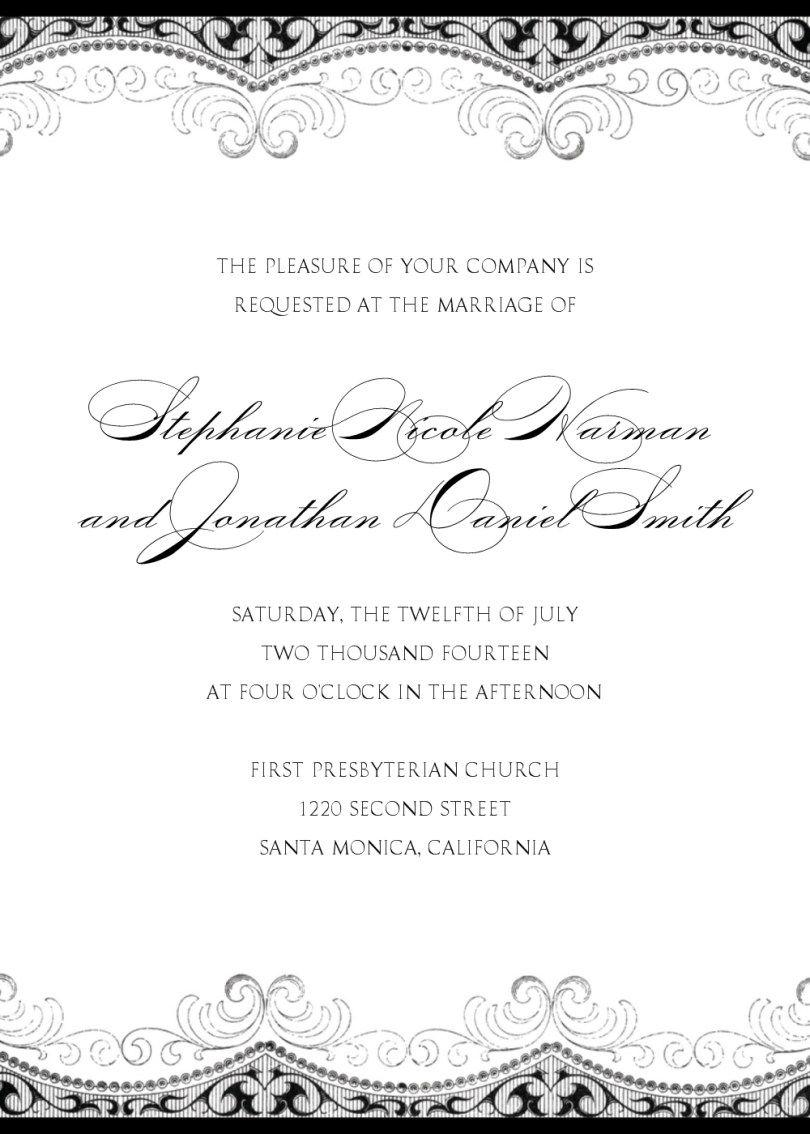Wedding Invitations Ideas Wording - ADDICFASHION