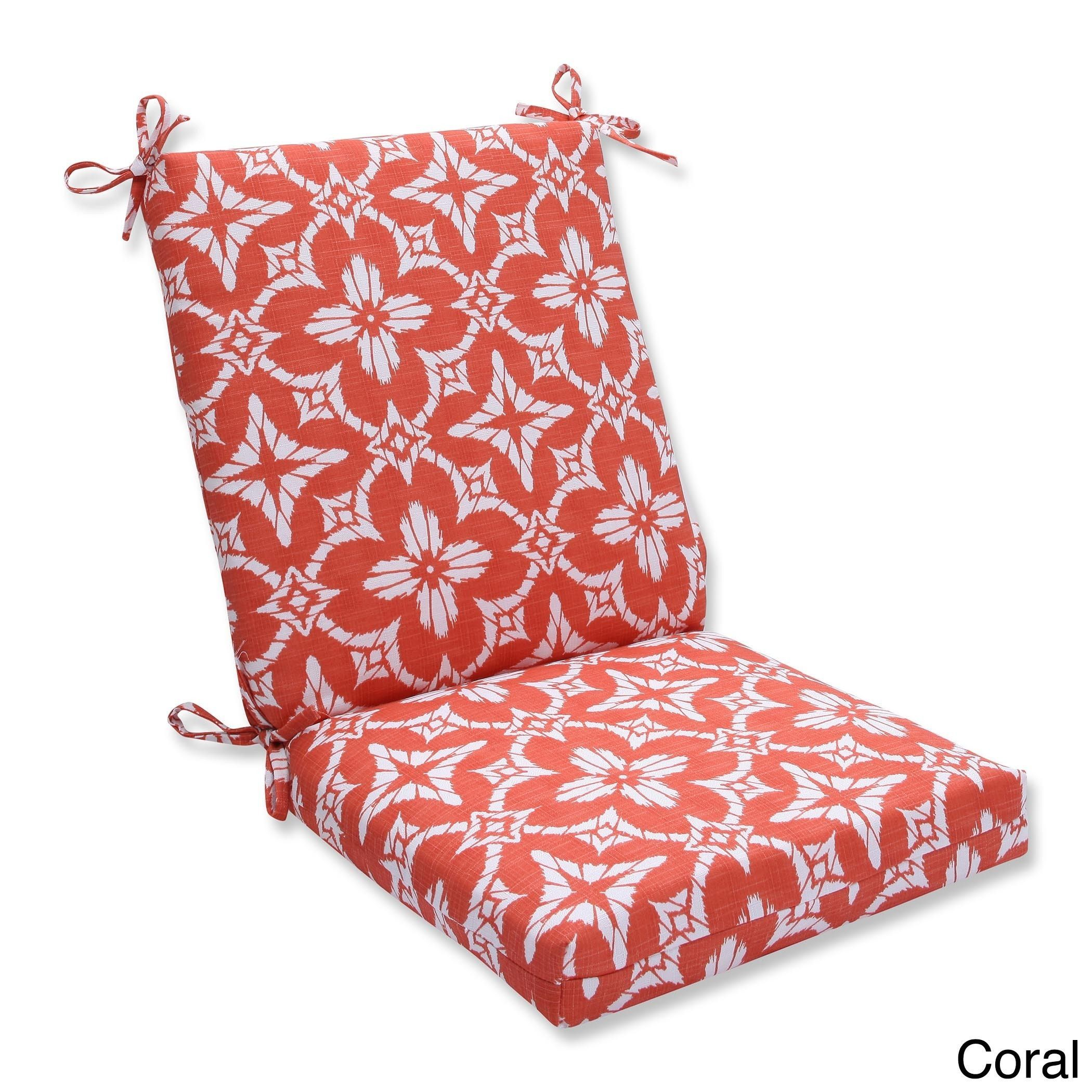 Pillow Perfect Outdoor Indoor Aspidoras Squared Corners Chair Cushion Overstock Com Shopping The Best Deals On Outdoor Cushions Pillows Outdoor Dining Chair Cushions Chair Cushions Walmart Dining Chair Cushions