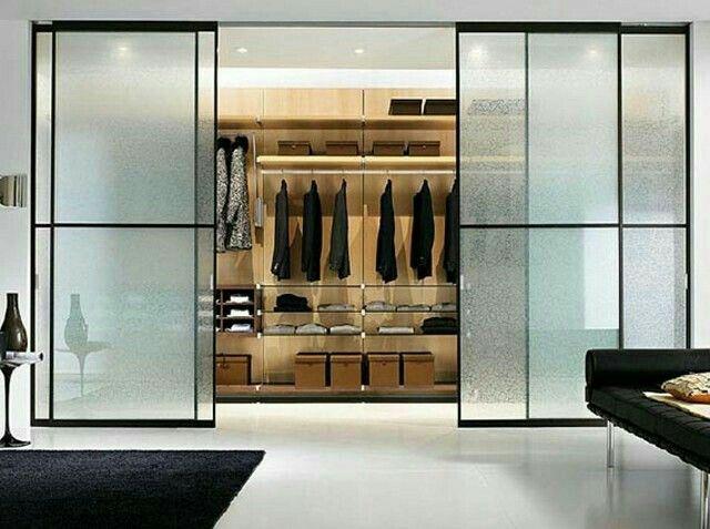 Sistema de vestidor panelado y puertas de aluminio space habithame