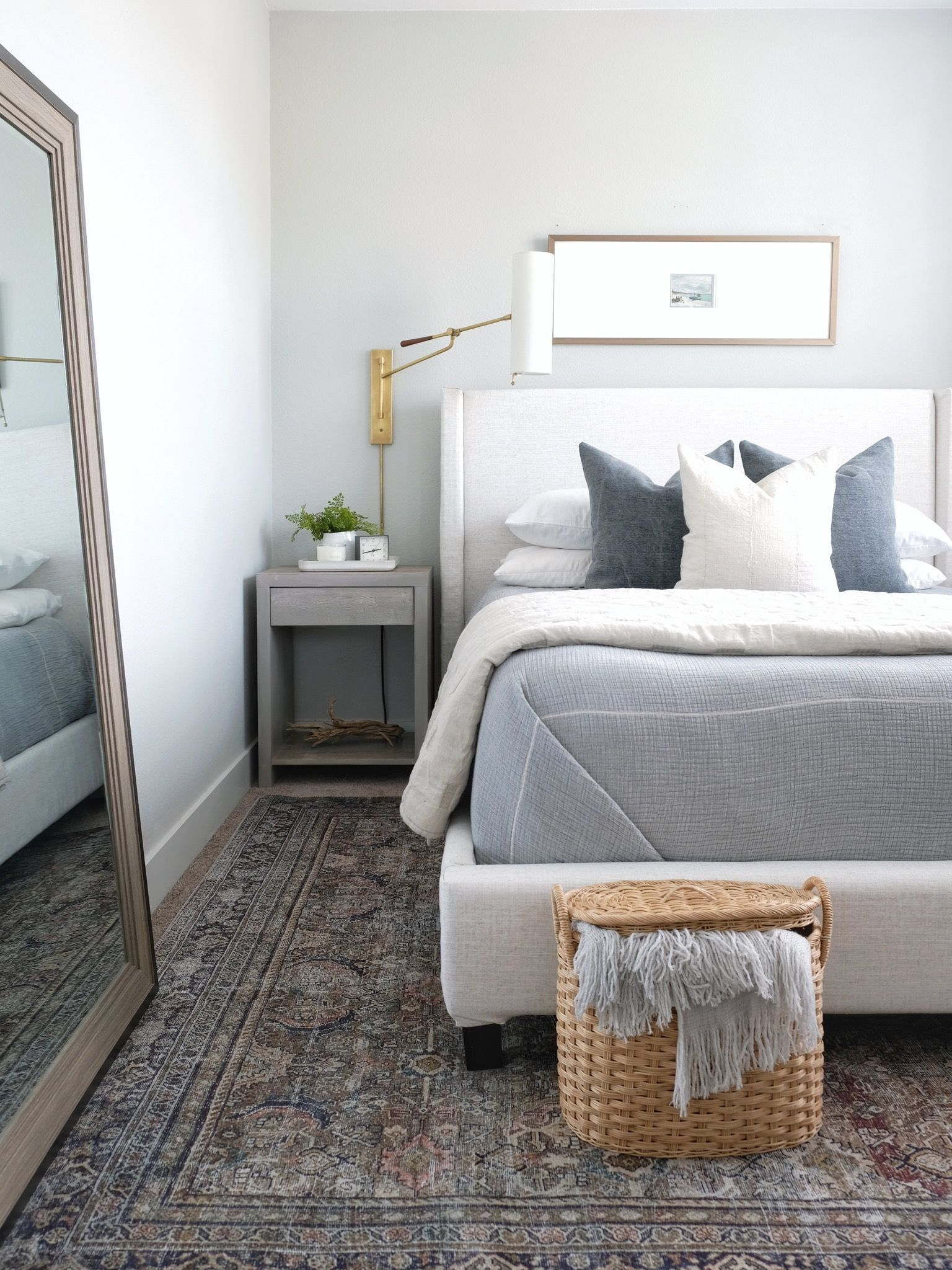 Proof that a rug can transform a room! This beautiful ...