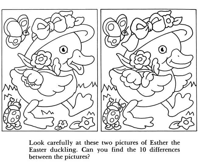 Dover Free Worksheets : Easter activity book printable and templates