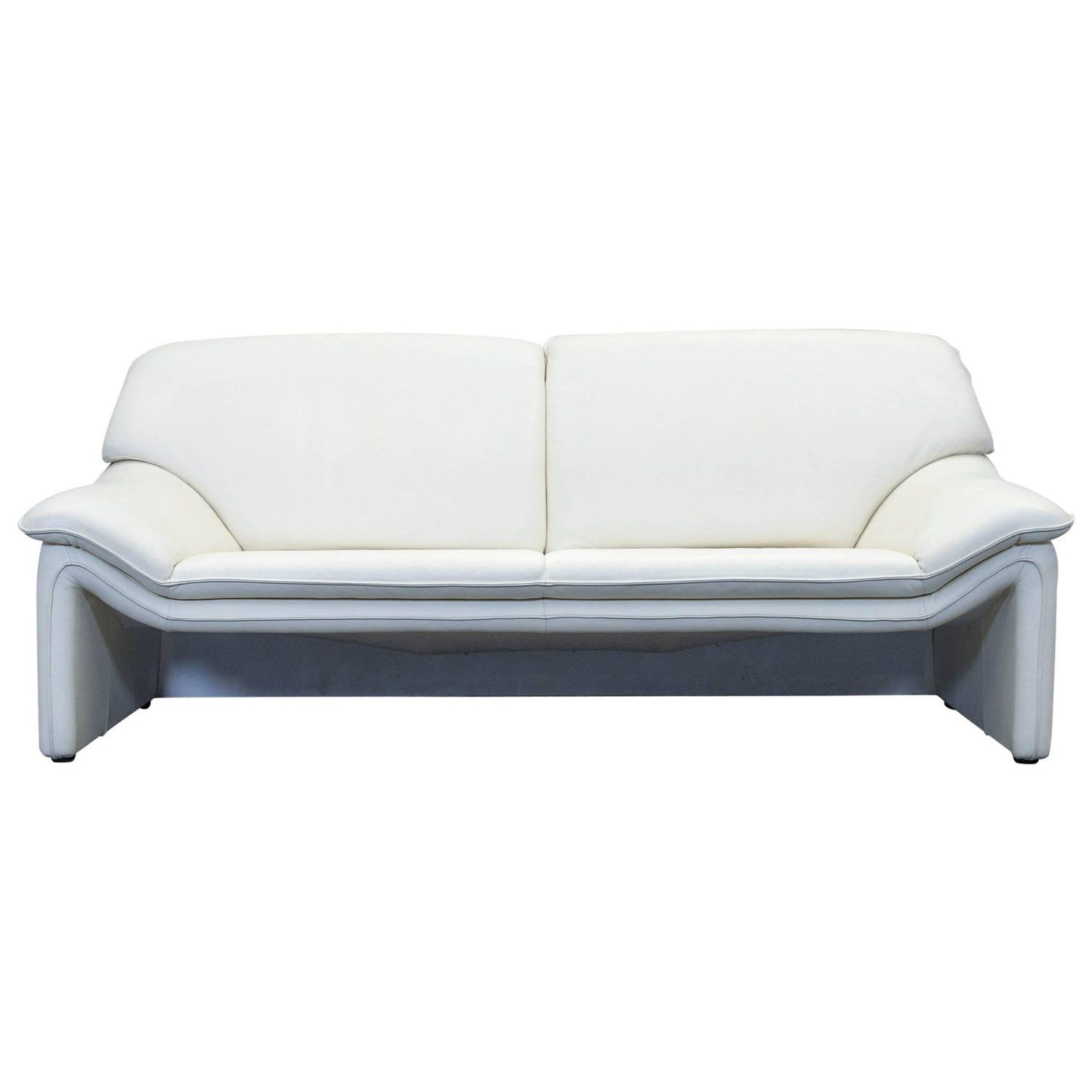 Laauser Atlanta Designer Sofa Leather Crème Two-Seat Couch Modern ...