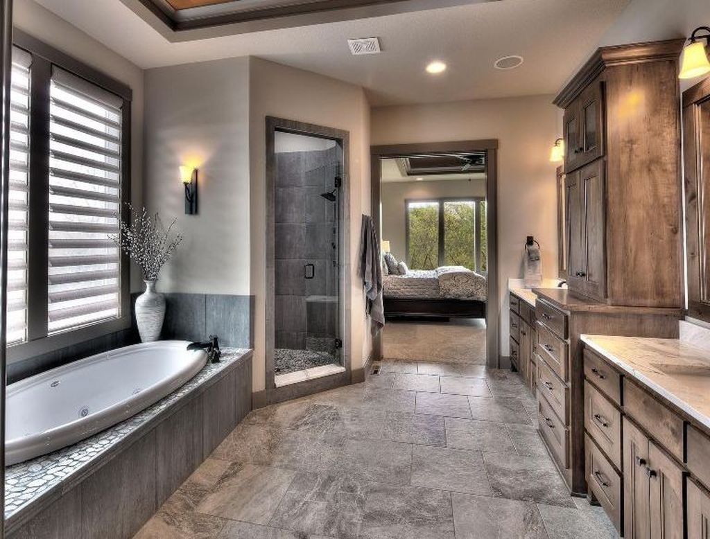 Gorgeous 43 Pretty Master Bathroom Design Ideas Renovation