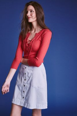 Pilcro Chino Skirt