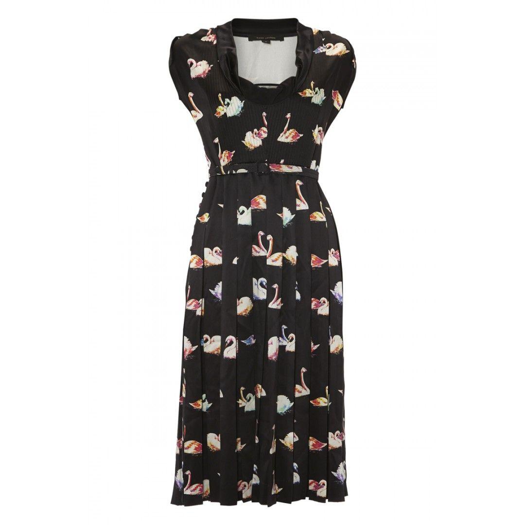 Marc Jacobs Silk Swan Print Dress via ASOS