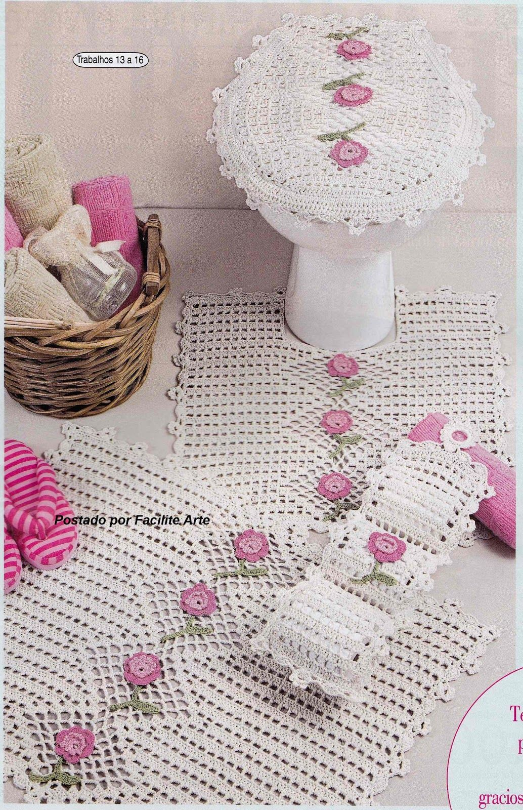 Knit crochet fashionable tablecloth for home. Detailed diagram with description and photo