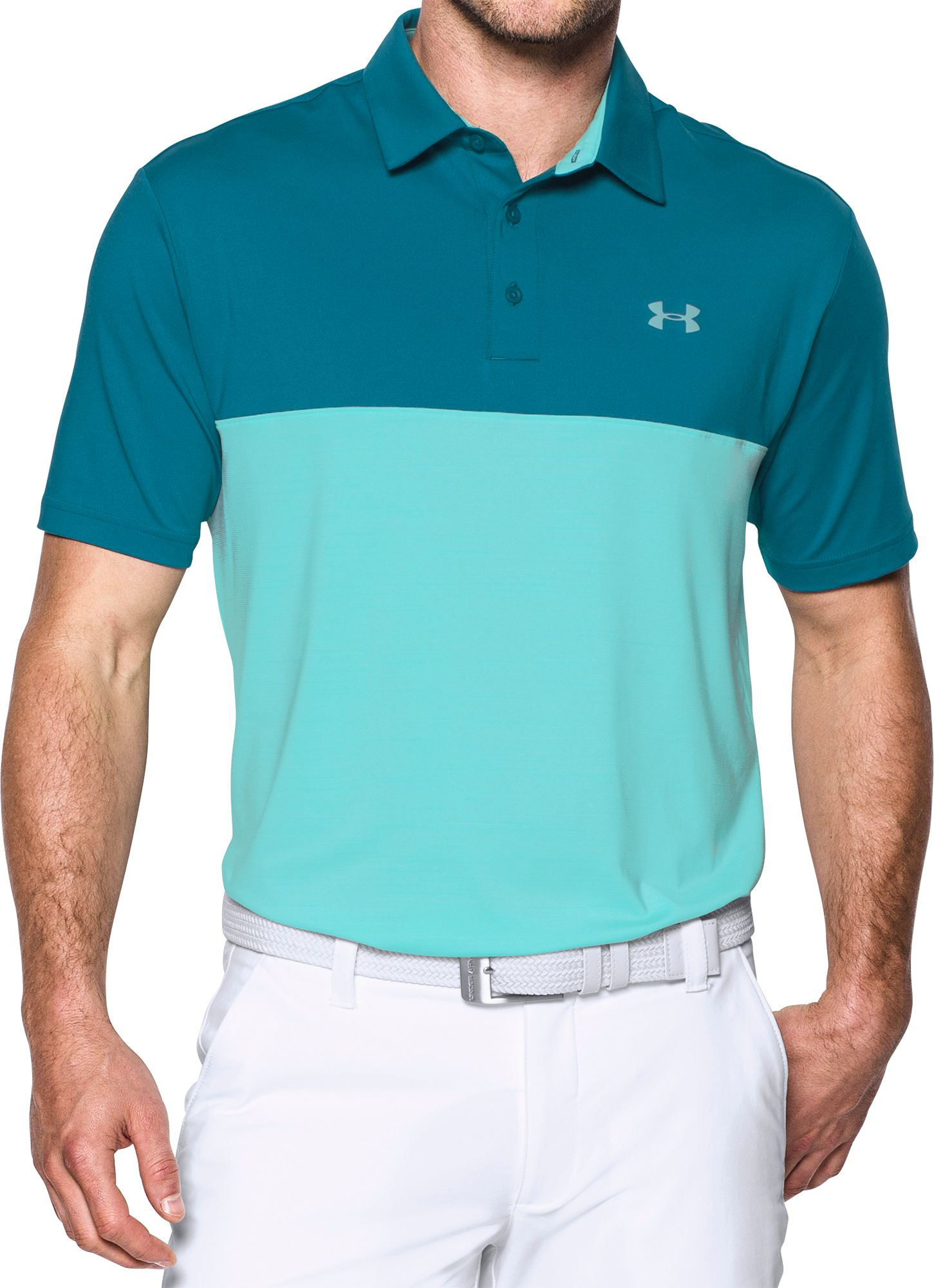 83b815a0 Under Armour Playoff Blocked Golf Polo Shirt