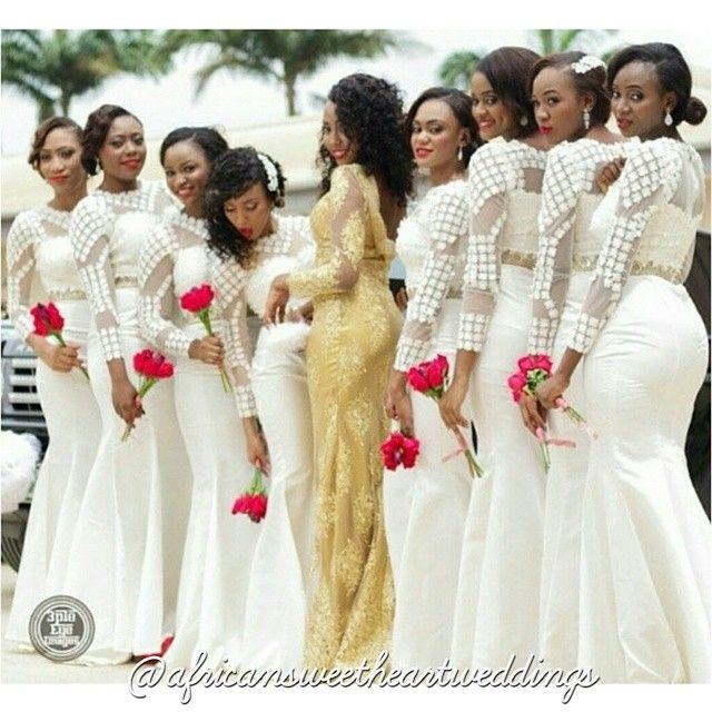 Nigerian African Wedding Dress