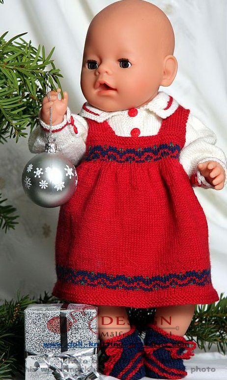 Juleklær til dukken baby born og Chou Chou