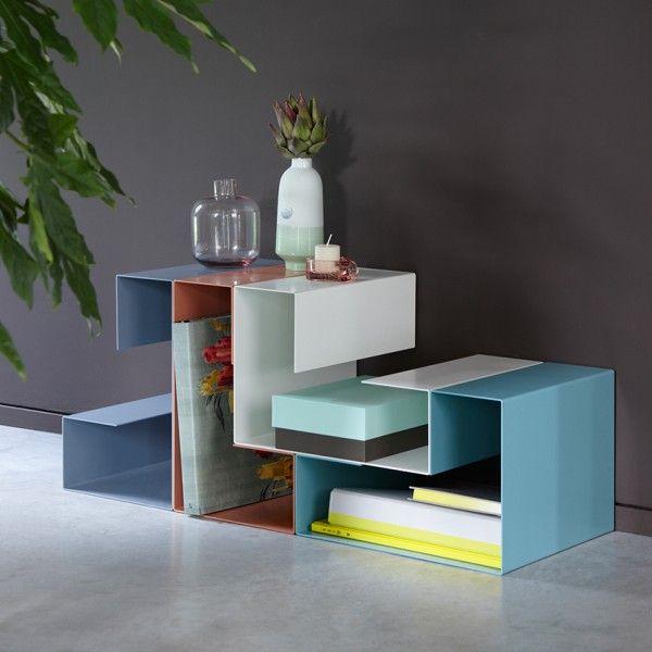 Porte Revue Grand Angle Droit Arne Concept Mobilier Geometrique Meuble Metal Table Basse