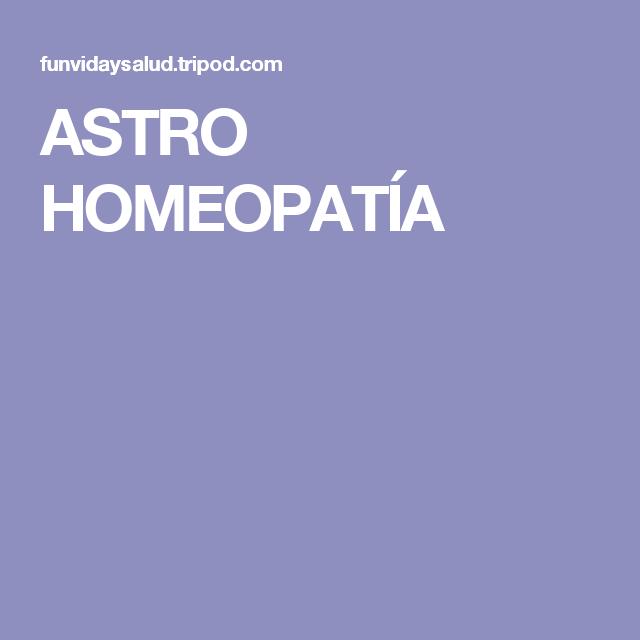 ASTRO HOMEOPATÍA