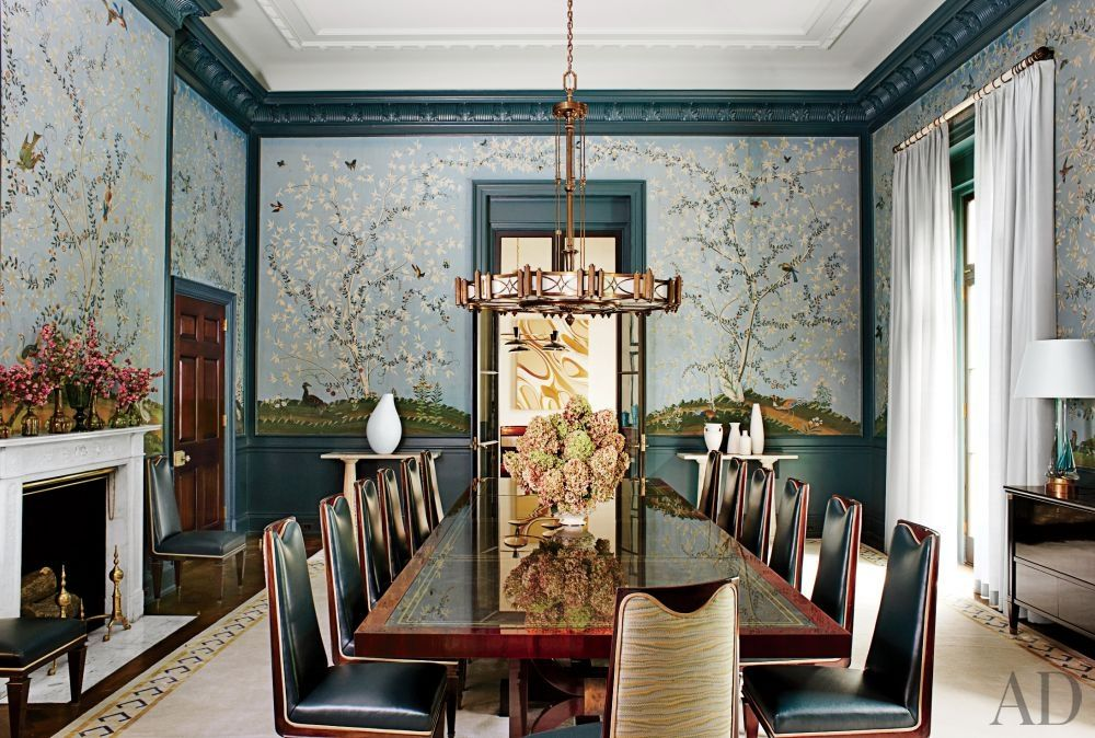 The Dining Room Of A Long Island Home Designed By Steven Gambrel