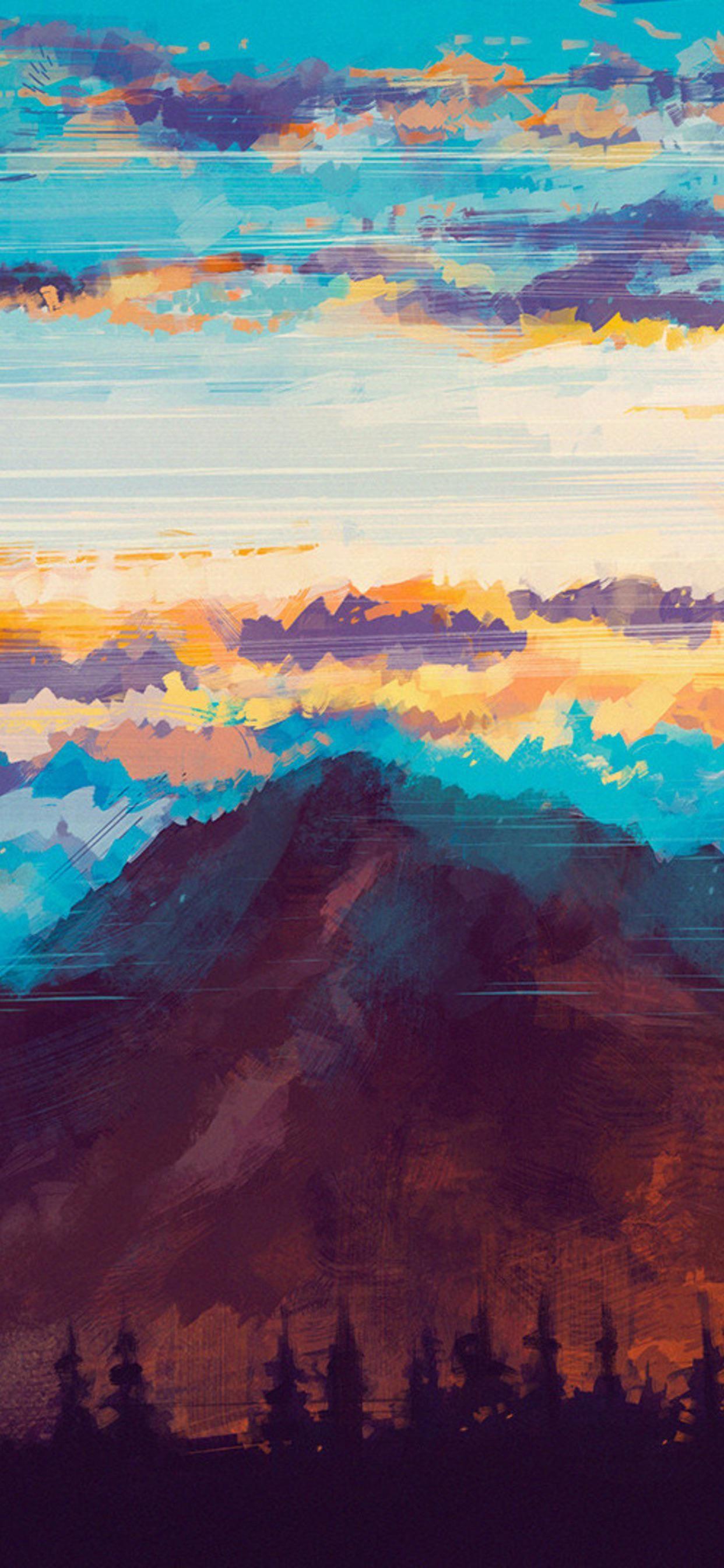 Beautiful sky in 2020 Nature wallpaper, Artwork, Phone