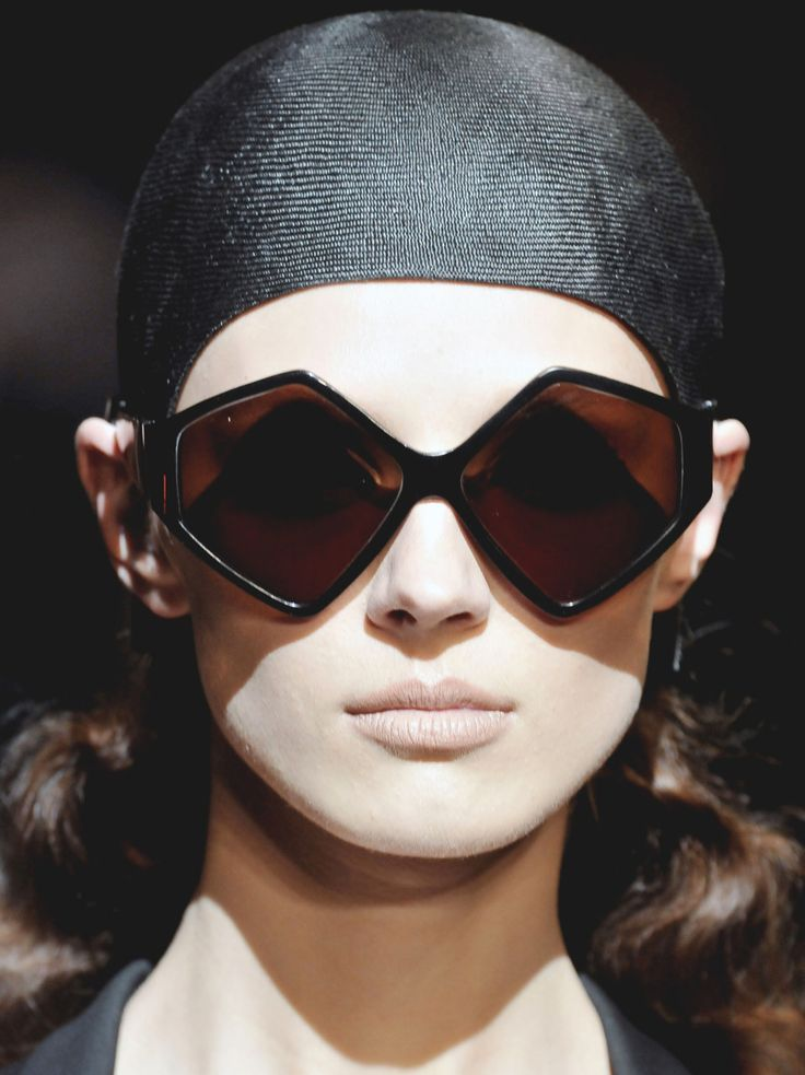 Although harder for some face shapes to pull off extreme geometric shades such as these are back in a big way!