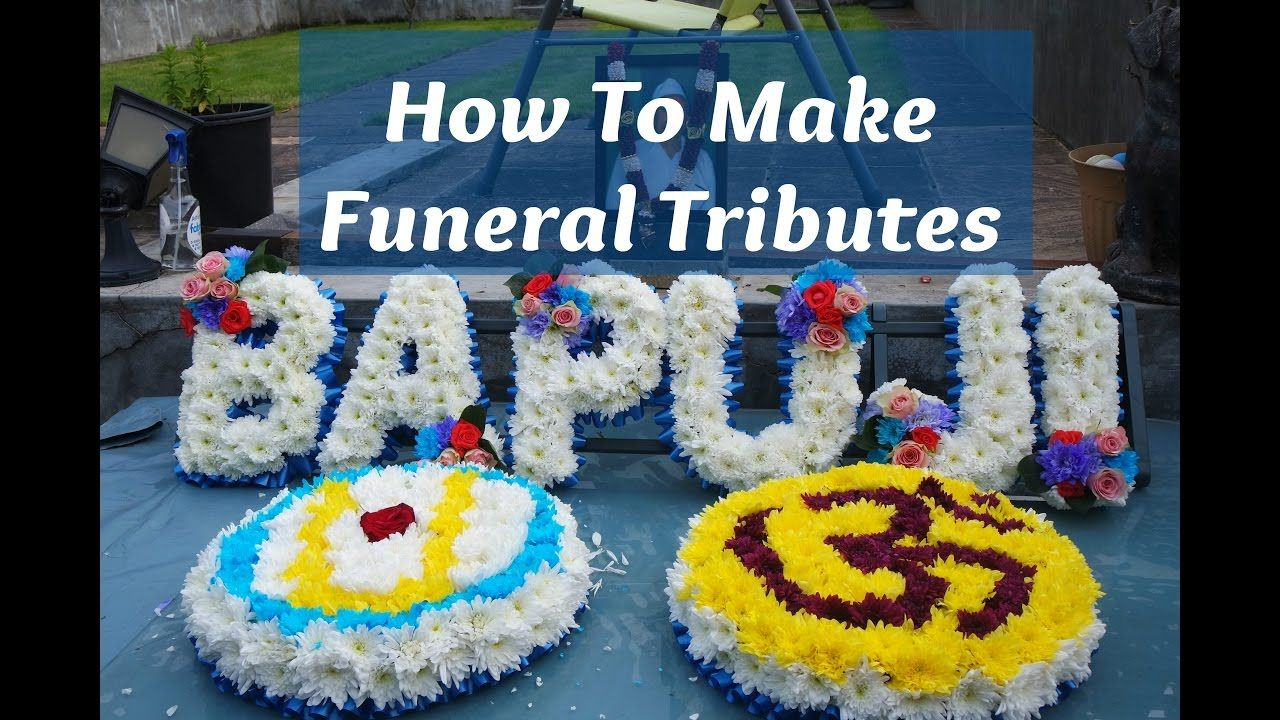 How To Arrange Funeral Flowers Oasis Foam Letters Words Hindu Aum