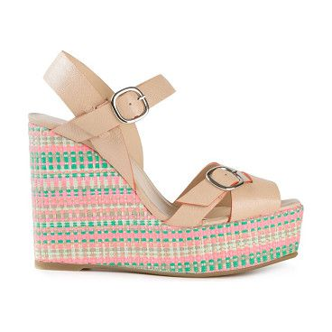 CASTANER Fay wedge sandals found on Nudevotion