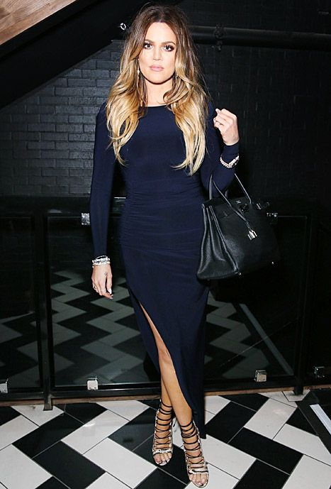Khloe Kardashian attends a 16th birthday party for Diddy's son Christian at West Hollywood hotspot 1 Oak on Friday, Apr. 4