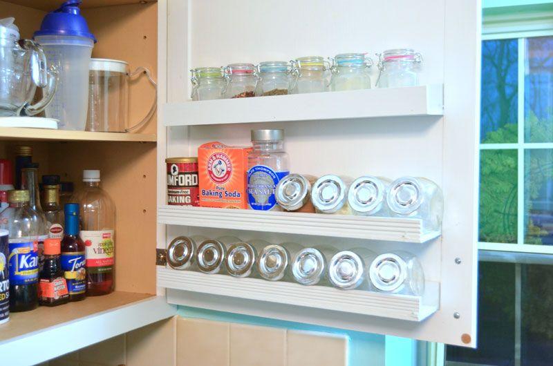 DIY Inside Cabinet Door Shelf