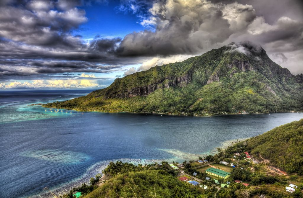 A view of Mo'orea from the mountains - the view fit for the Gods. Photo by vgm8383, flickr