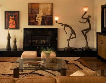 Living Room African Safari Decor Design Ideas, Pictures, Remodel, And Decor    Page