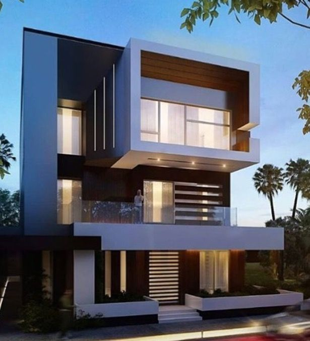 Pin by andrzej maniewski on home design house front - 3 storey building exterior design ...