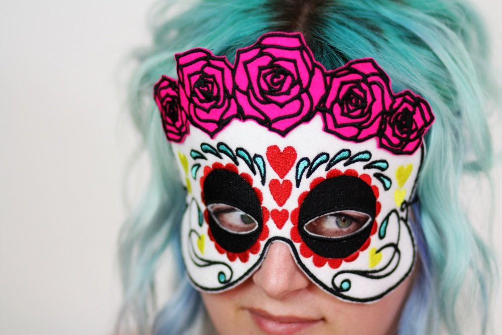 da de los muertos mask sugar skull halloween mask day of the dead