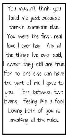 feeling torn between two loves quotes - Google Search