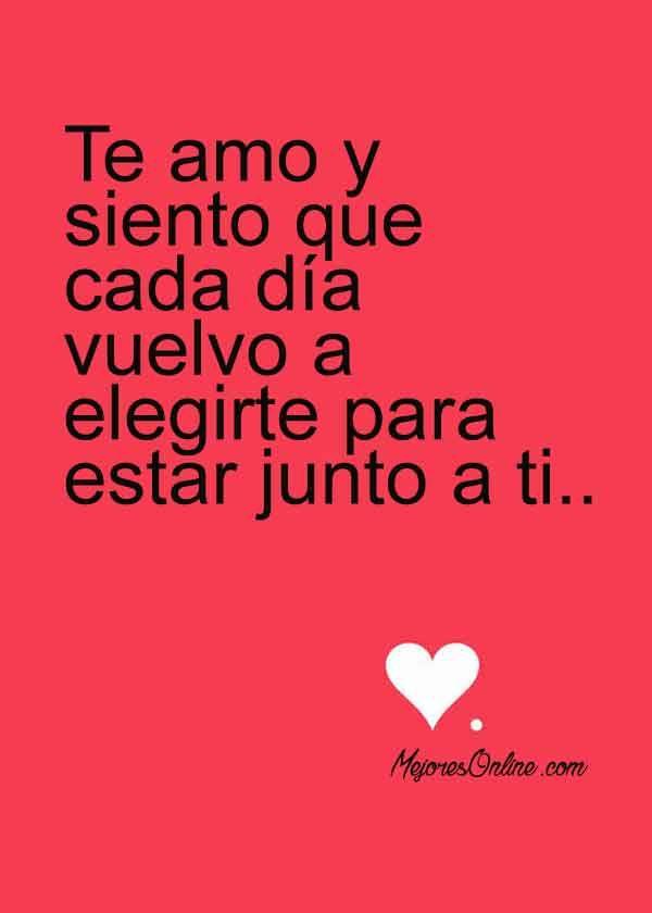 Letras De Amor En Postales Para Enamorados Letra De Amor Frases Bonitas Frases Love