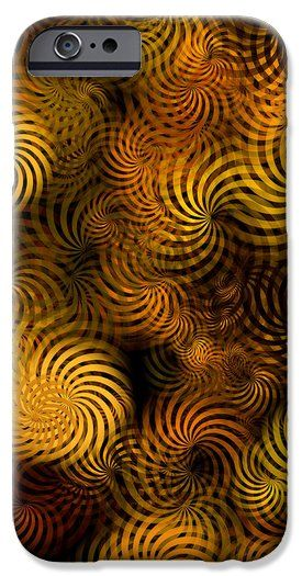 Copper Spirals Abstract Square iPhone 6 Case by Christina Rollo.  Protect your iPhone 6 with an impact-resistant, slim-profile, hard-shell case.  The image is printed directly onto the case and wrapped around the edges for a beautiful presentation.  Simply snap the case onto your iPhone 6 for instant protection and direct access to all of the phones features!