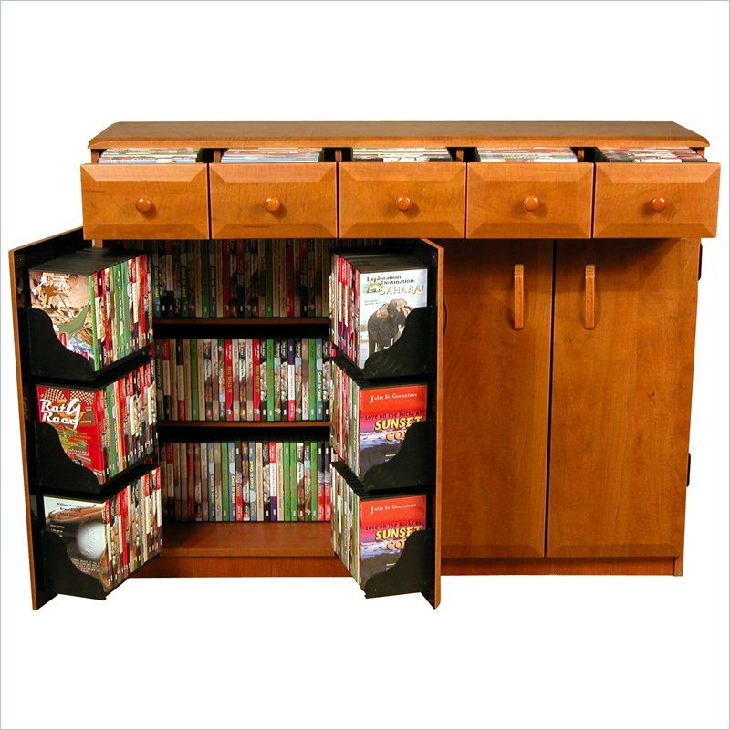 Venture Horizon Cd Dvd Media Storage Cabinet With Drawers Available In Multiple Finishes