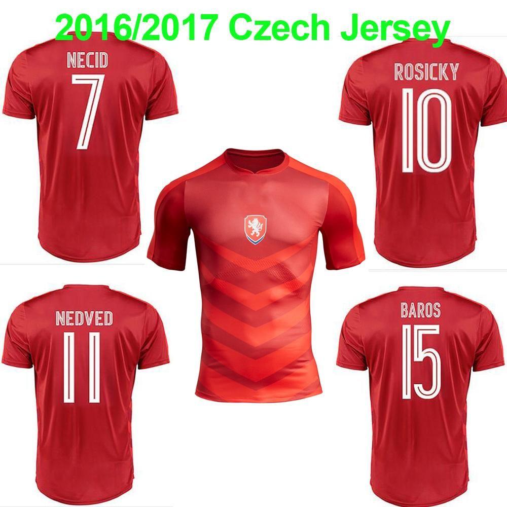 16 17 Czech Republic National Team Soccer Jerseys 2016 European Cup Czech  Football Shirt Top Thailand Quality ROSICKY NEDVED Jersey Online with   12.97 Piece ... 68333824a