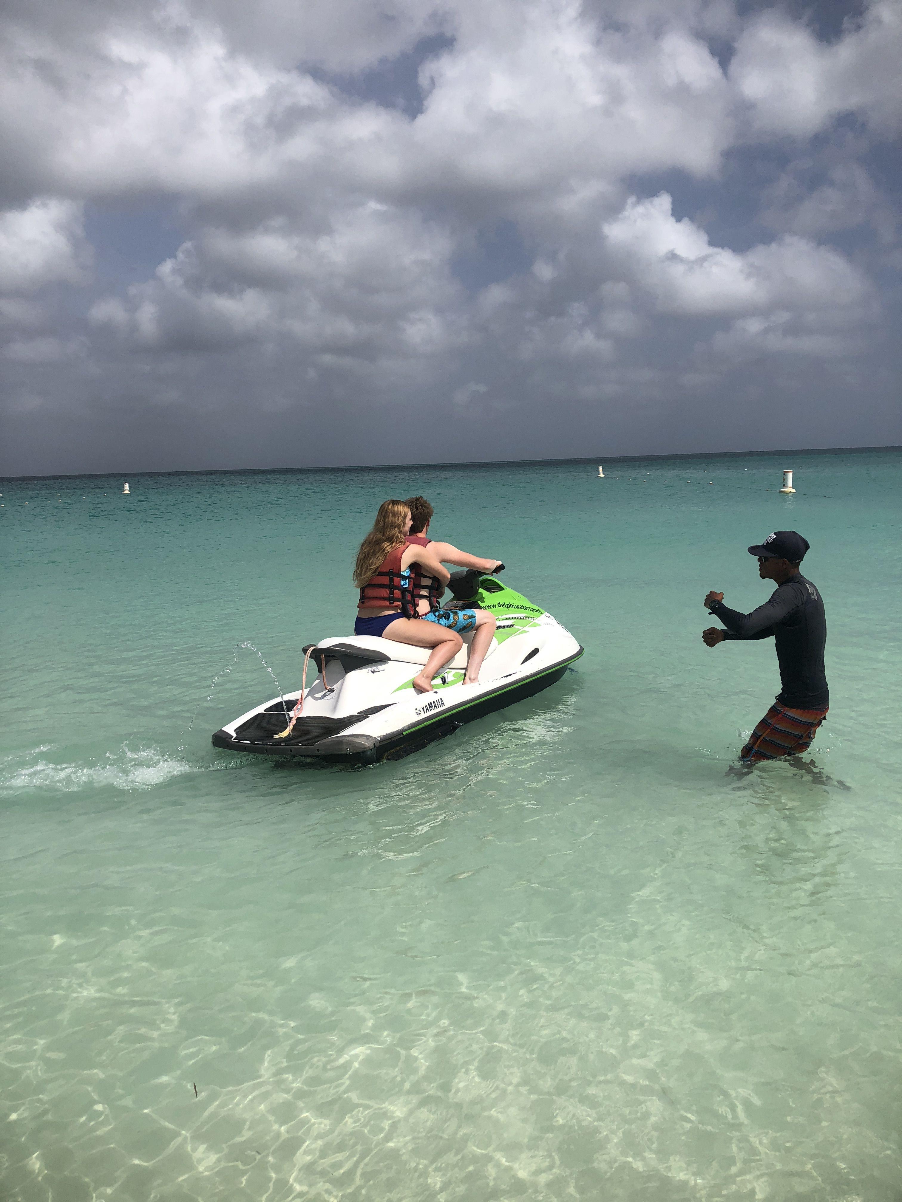 Jet Skis On Eagle Beach Aruba Aruba Jet Ski Beach