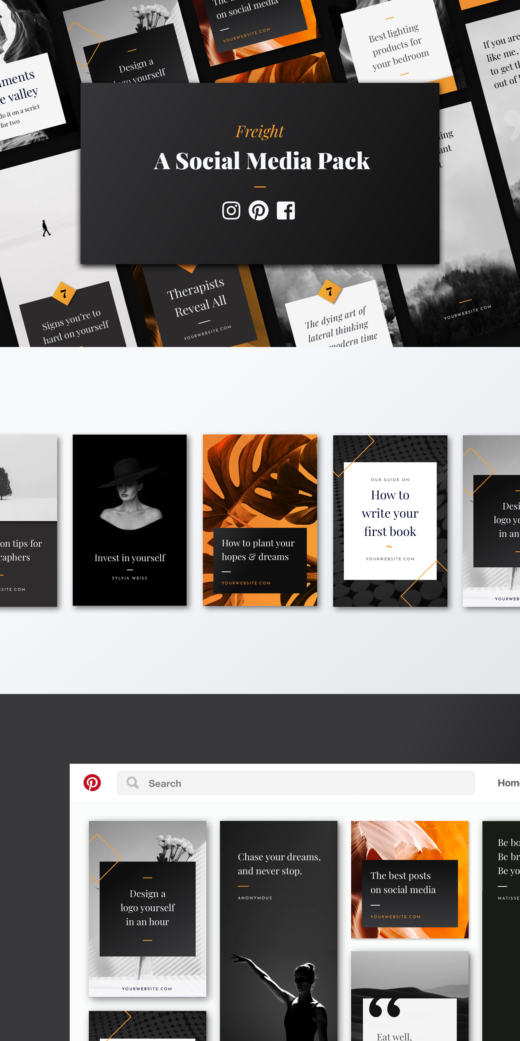 Struggling To Make Posts That Look Good Stand Out From The Feed With These Elegantly Designed Social Media Templates 32 High Res Social Media Template Social Media Social Media Design