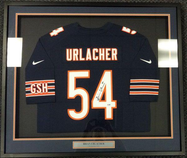 2e5d43620e1 Brian Urlacher Autographed Chicago Bears Blue Nike Framed Jersey PSA/DNA