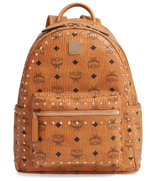 MCM Small Stark Outline Stud Leather Backpack in 2019