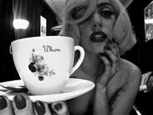 Lady Gaga Drinking Tea