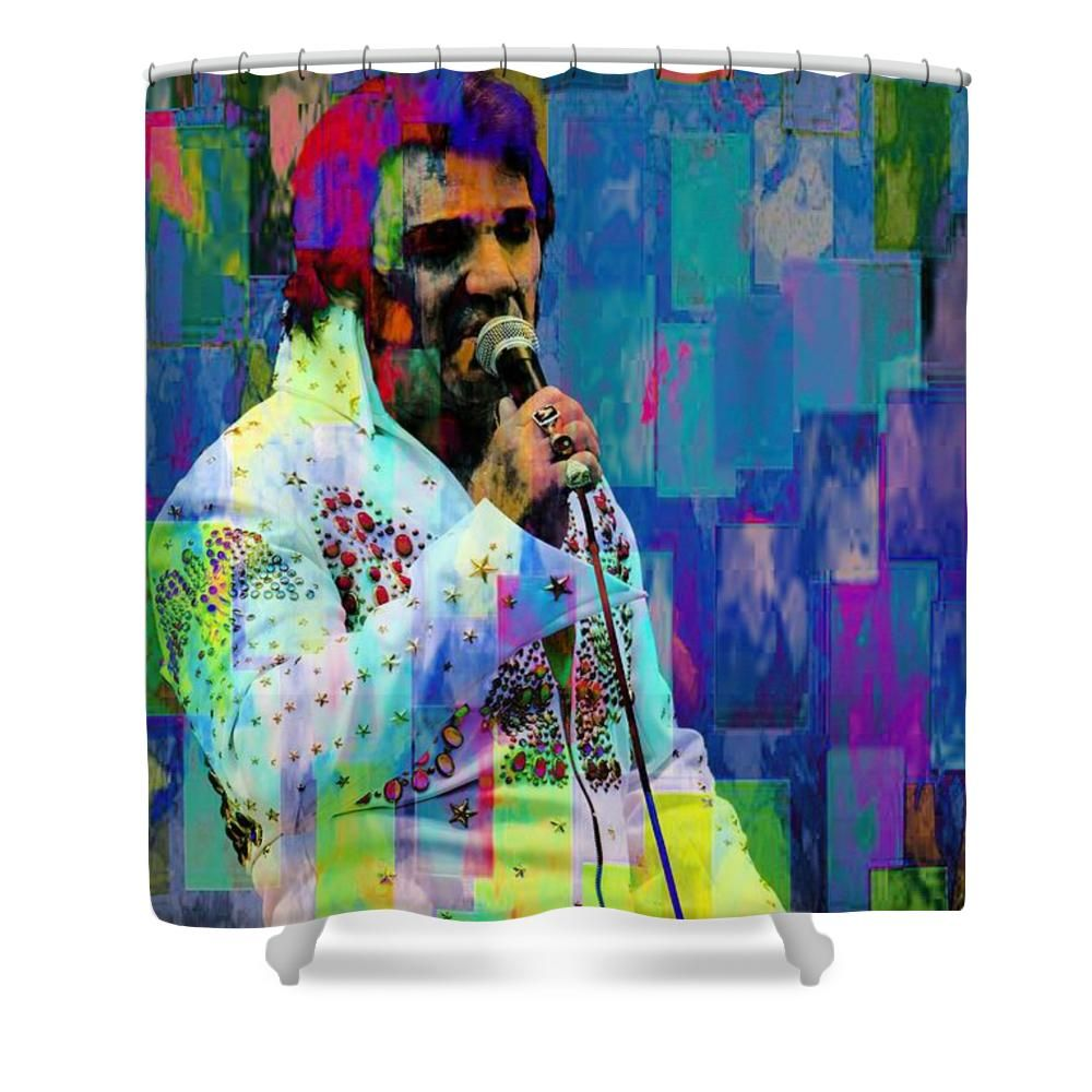 Echoes Of Elvis One Shower Curtain For Sale By Alice Gipson