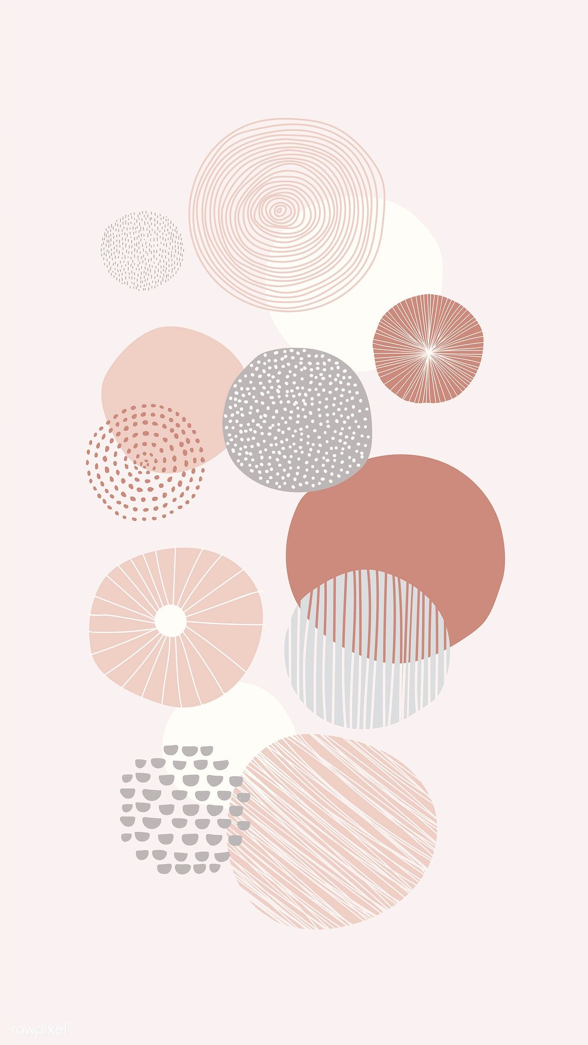 Download premium vector of Round patterned doodle background vector 844895