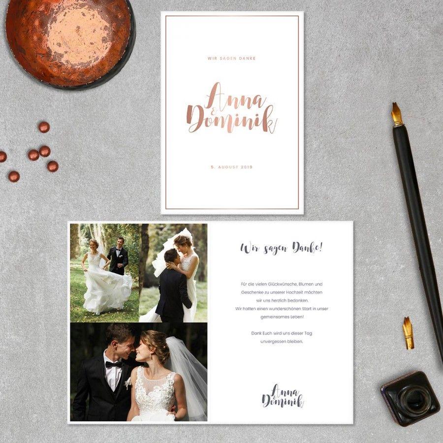 Kalligraphie Danksagung Danksagungskarten Zur Hochzeit