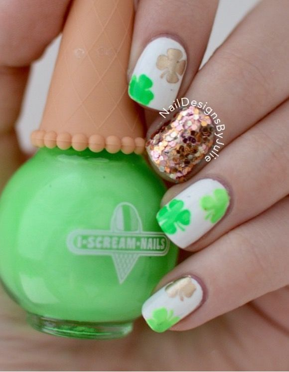 Adorable St Patricks Day Manicure By Naildesignsbyjulie Using Our
