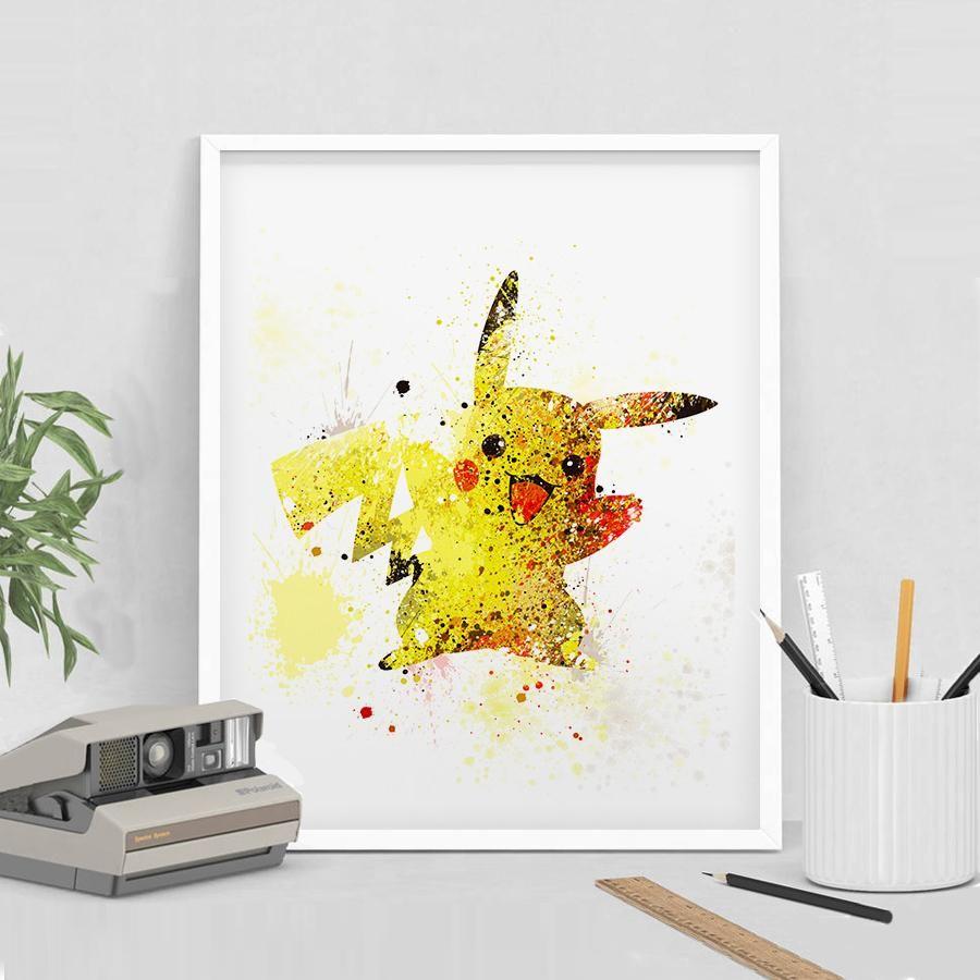 Pokemon GO Pikachu Print, Pokemon Art, Pokemon Print, Pokemon Decor ...