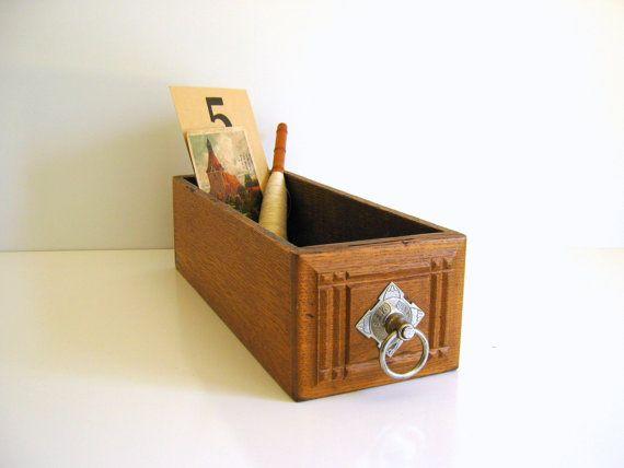Wood Singer Sewing Drawer Vintage Storage by RollingHillsVintage
